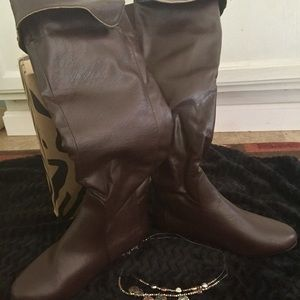 Women's Brown Boots by Anna
